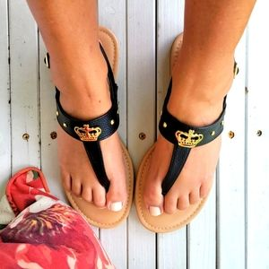 Juicy Couture T Strap Sandals